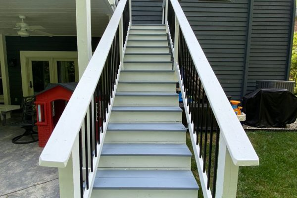 Stair tread painting