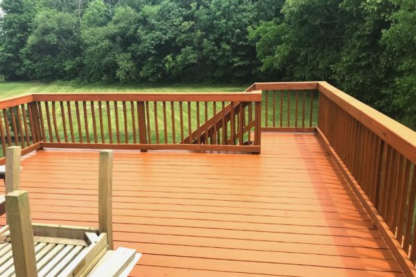 Fishers Deck staining