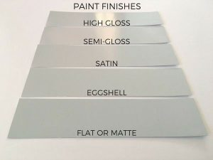 gray paint sheen