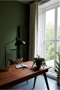 dark green office
