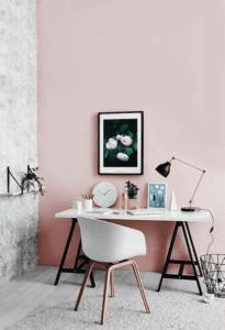 light pink office